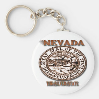 Nevada's Great Seal State Designs Keychain