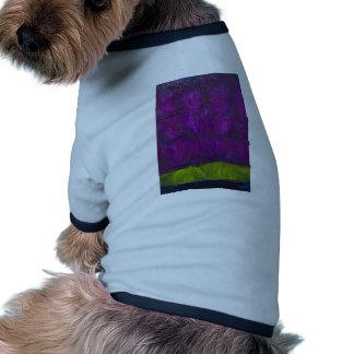 Nevadas púrpuras expresionismo abstracto del pais camiseta de perrito