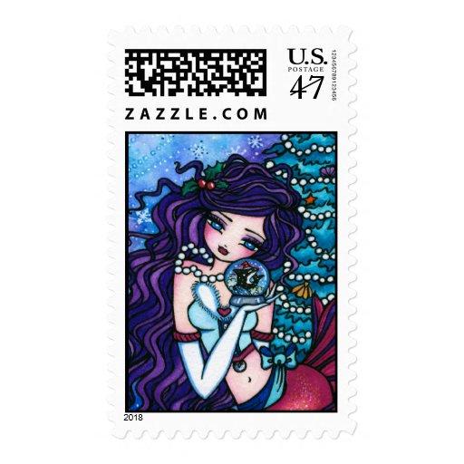 Nevado atesora la orca de la hada de la fantasía sello postal