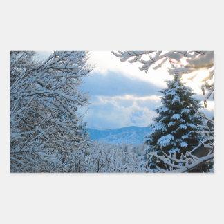 Nevado Colorado Pegatina Rectangular