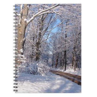 Nevado Michigan rural Libros De Apuntes Con Espiral