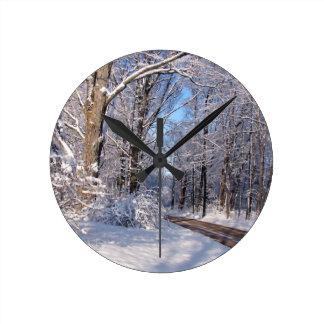 Nevado Michigan rural Reloj