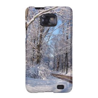 Nevado Michigan rural Samsung Galaxy SII Carcasa