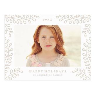 Nevado ramifica colección tarjetas postales