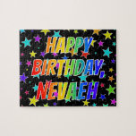 "[ Thumbnail: ""Nevaeh"" First Name, Fun ""Happy Birthday"" Jigsaw Puzzle ]"