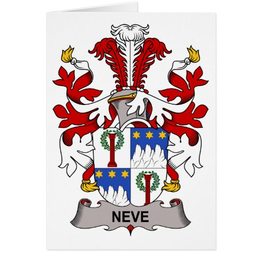 Neve Family Crest Greeting Card