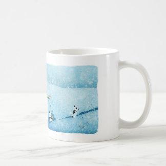 Neve. Fiori. Panda. Taza De Café