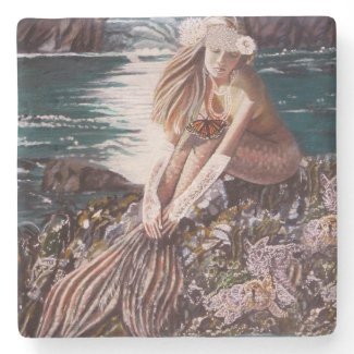 Never A Bride Mermaid Coaster