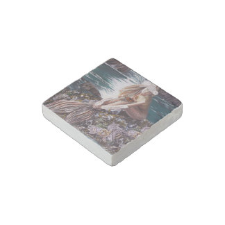 Never A Bride Mermaid Marble Magnet