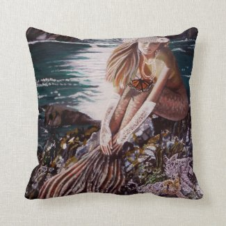 Never A Bride Mermaid Pillow
