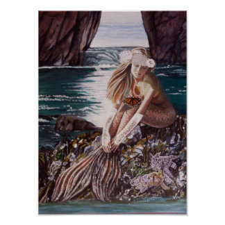 Never A Bride Mermaid Poster