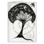 Never a root without a tree note card