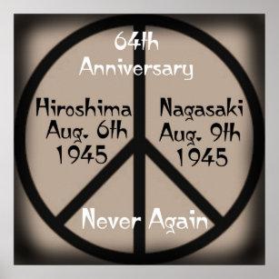 Never Again-Hiroshima/Nagasaki Anniversary Poster