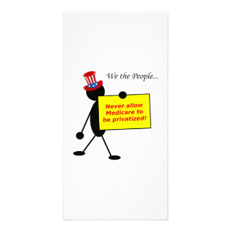 Never Allow Medicare to be Privatized Photo Card Template