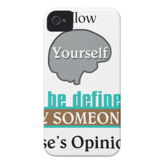 Never Allow Your Self to be Defined by Someone Case-Mate iPhone 4 Case