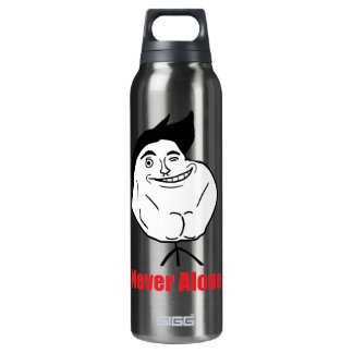 Never Alone - 16 Oz Insulated SIGG Thermos Water Bottle