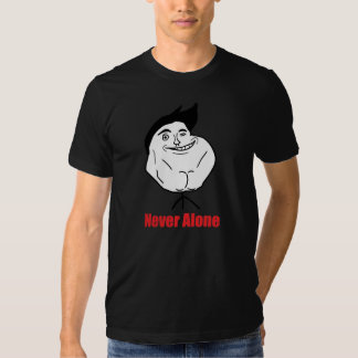 Never Alone - 2-sided AA Black T-Shirt