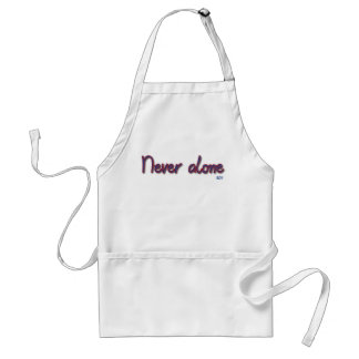 Never alone adult apron