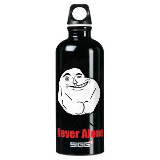 Never Alone - Aluminum Water Bottle