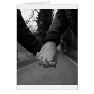 Never alone. Being together. Love. Card
