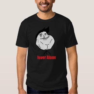 Never Alone - Black T-Shirt