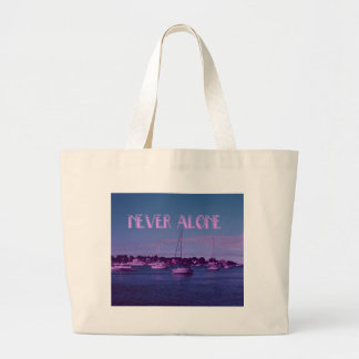 Never alone Boats Tote Bags