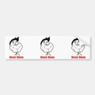 Never Alone - Bumper Sticker