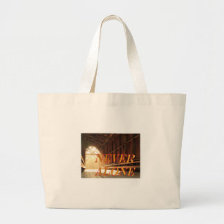Never alone Covered Bridge Canvas Bag