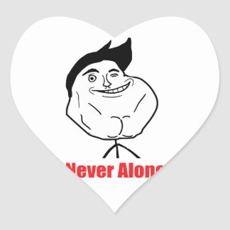 Never Alone - Heart Stickers