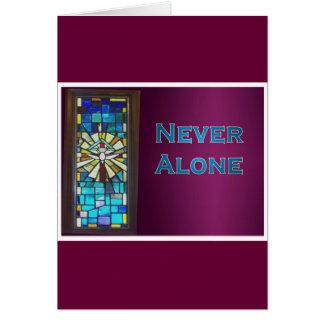 Never Alone Holy Spirit Window Card