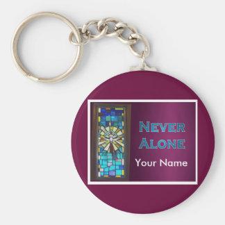 Never Alone Holy Spirit Window Keychain