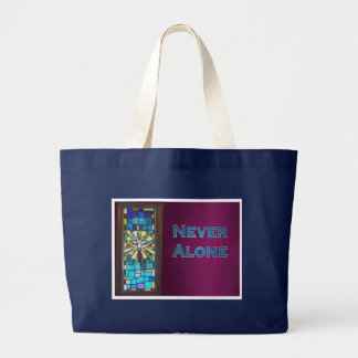 Never Alone Holy Spirit Window Large Tote Bag