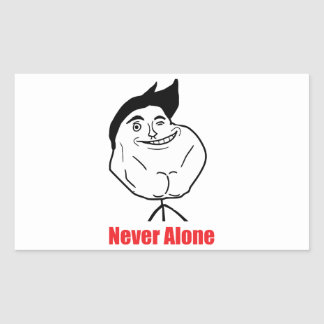 Never Alone - Rectangle Stickers