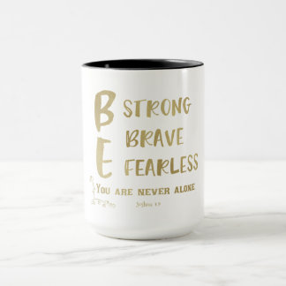 Never Alone Scripture with Quote Affirmations Mug