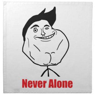 Never Alone - set of 4 Napkins