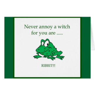 Never annoy a witch card
