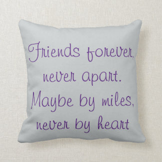 Never Apart-only by miles-never by heart-seascape Throw Pillow