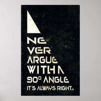 Never Argue - Math Poster