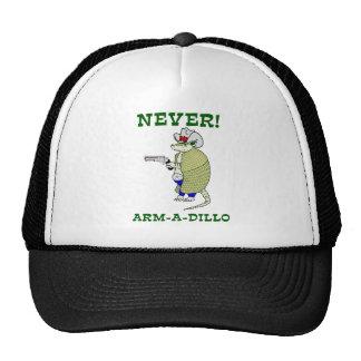 Never Arm-A-Dillo Trucker Hats