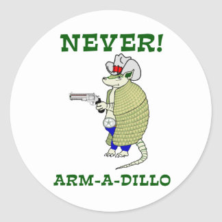 Never Arm-A-Dillo Stickers
