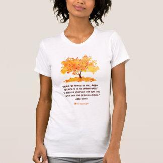 Never Be Afraid to Fall Apart Tree T-Shirt