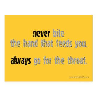 Never Bite The Hand... Postcard