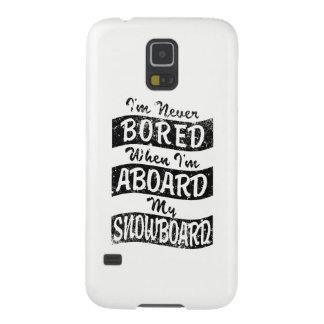 Never BOARD ABOARD my SNOWBOARD (Blk) Galaxy S5 Case
