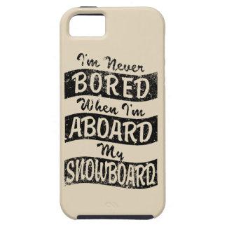 Never BOARD ABOARD my SNOWBOARD (Blk) iPhone SE/5/5s Case