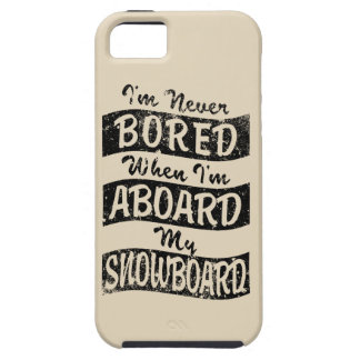 Never Bored ABOARD my SNOWBOARD (Blk) iPhone SE/5/5s Case