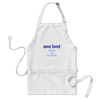Never Bored Adult Apron