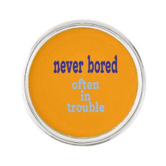 Never Bored (Orange Background Color)