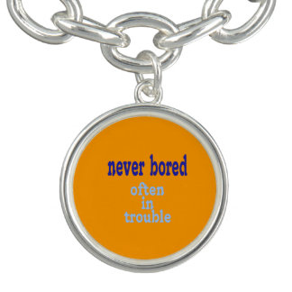 Never Bored (Orange Background Color) Bracelets