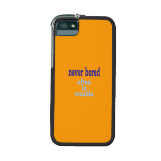 Never Bored (Orange Background Color) Case For iPhone 5