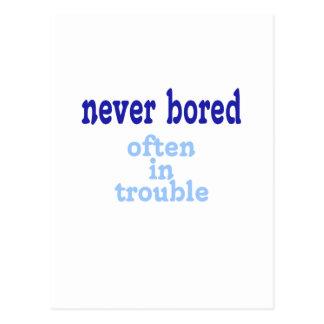 Never Bored Postcard